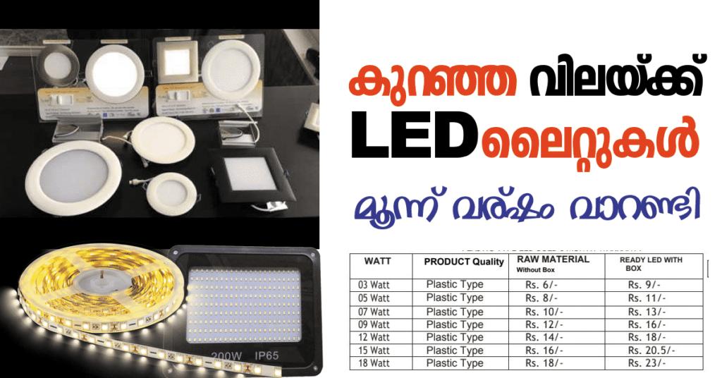 LED Bulb and Ceiling Lights Wholesale Price India