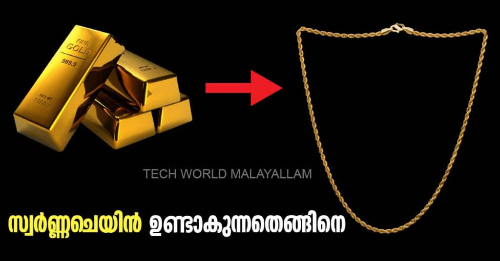How to make Gold chain