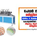 Paper straw making business in kerala