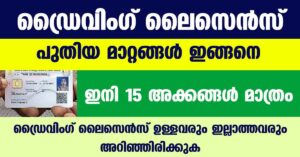 New Driving license Kerala