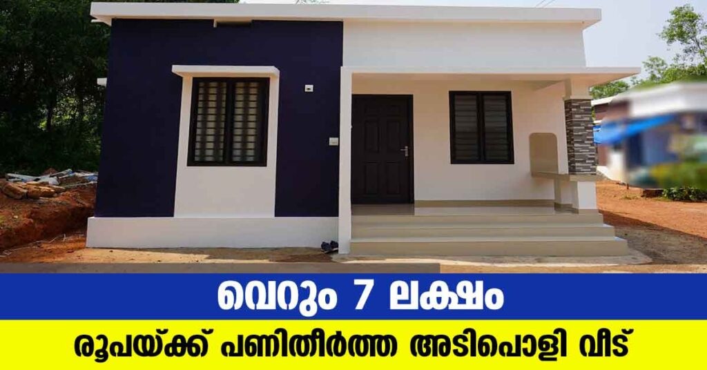 Graceful low budget single story home built for 7 Lakh