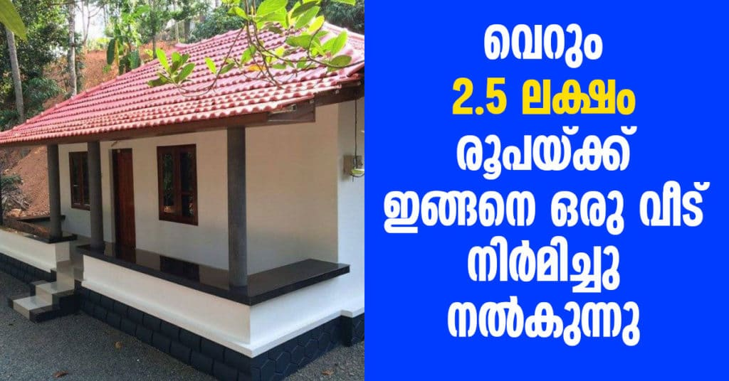 2.5 lakh budget house in kerala